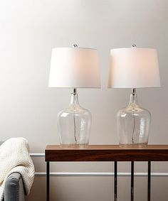 Look at this Azure Glass Table Lamp - Set of Two on #zulily today!