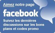 CodesPromotion sur Facebook pour profitez de codes promo