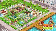 Food Street Game, Restaurant Design, Beautiful