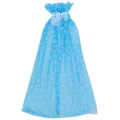 So Sydney Ice Queen Long Snowflake Cape or Cloak, Halloween Costume Accessory (Turquoise Blue)