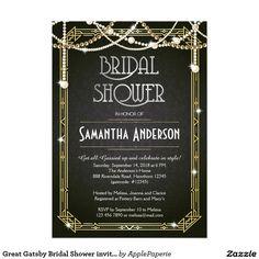Great Gatsby Bridal Shower invitation / Art Deco Like and Repin. Thx Noelito Flow. http://www.instagram.com/noelitoflow