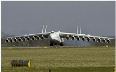 This was a Photoshop Mod of an AN-225. A 6 engine Twin Tail Cargo plane. not an 18 engine, Quad Tail plane.