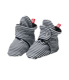 Black Stripe Baby Booties.