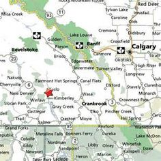 Kootenay National Park Map Bing Images