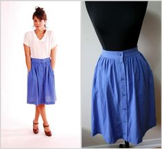 Incredible obsession with button front skirts.  Naturally.