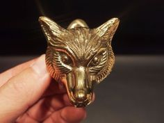 Antique Vintage Style Small Solid Brass Fox Door Knocker Hardware   Solid  Brass, Hardware And Doors