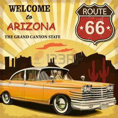 Willkommen in Arizona Retro Plakat.