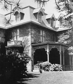 Old photo of Coleman mansion torn down in 1961, Lebanon, PA.