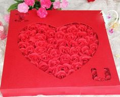 100 Rose Soap Flowers Classic Red.  For Only $69.99