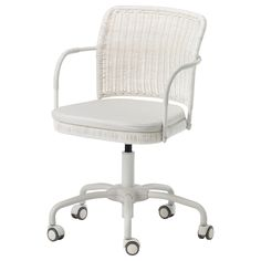 Found the PERFECT chair !! My DIY office project!! GREGOR Swivel chair - Vittaryd white - IKEA office chair, wicker