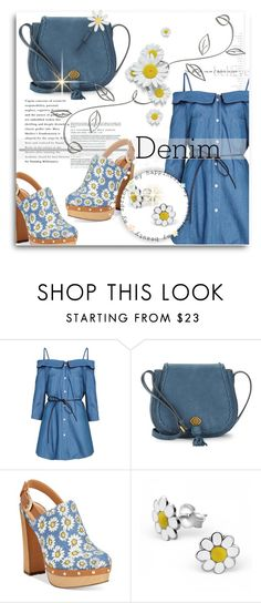 """DENIM on DENIM"" by mlka ❤ liked on Polyvore featuring Nanette Lepore, Report, Lisa Angel and Denimondenim"