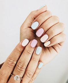"""If you're unfamiliar with nail trends and you hear the words """"coffin nails,"""" what comes to mind? It's not nails with coffins drawn on them. It's long nails with a square tip, and the look has. Cute Acrylic Nails, Cute Nails, Pretty Nails, Cute Nail Colors, Candy Colors, Pastel Nail Art, Pastel Nail Polish, Nail Polish Trends, Toe Nail Colours"""