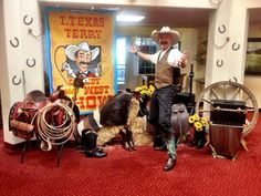 THURS Sept. 4th 6:30 pm T. Texas Terry comes to the library and brings his fun Wild West show full of gun slinging, roping, and laughs!