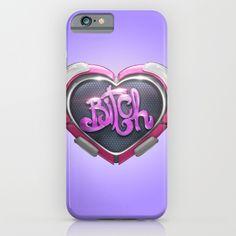 Techno Cyber Heart Bitch iPhone & iPod Case