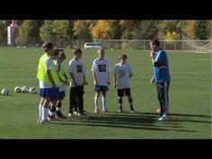 soccer training. - defending drill 1. #coachstatus
