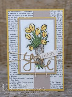 Stampin Up Love is Kindness & Crazy About You thank you card by Di Barnes #colourmehappy