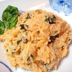 orzo, basil, parm....good side for a steak or better yet, a pork chop