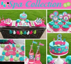 Spa Girls Birthday Party decorations PRINTABLE by CupcakeExpress Girls Spa Party Birthday Cake! Spa Party Decorations, Spa Party Favors, Pamper Party, Birthday Decorations, Barbie Birthday, Barbie Party, 10th Birthday, Spa Birthday Cake, Birthday Ideas