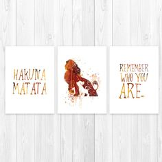 The Lion King Set of 3 Art Posters Disney Lion king by artRuss