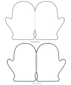 printable mitten card template