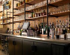 Shelf system from Parkside restaurant in Austin, TX