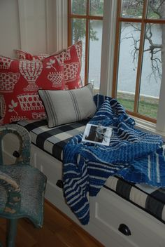 Window Seat in Mary Carol Garrity's Lake Home
