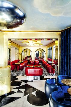 Best hospitality projects by India Mahdavi | Hotel Interior Designs