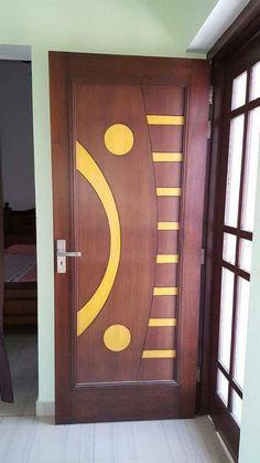 DOOR Bedroom Door Design, Door Design Interior, Wooden Door Design, Wooden Doors, Panel Doors, Windows And Doors, Bed Design, House Design, Modern Door