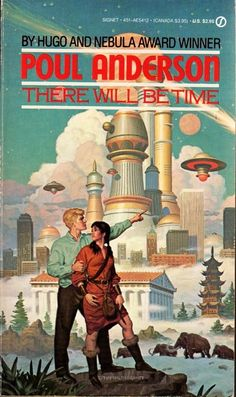 There Will Be Time, Poul Anderson (1988 edition), cover by Tim Heldebrandt