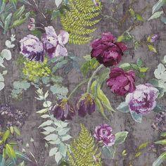 tulipani - amethyst wallpaper | Designers Guild