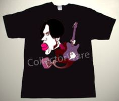 PRINCE cartoon 1 CUSTOM ART UNIQUE T-SHIRT   Each T-shirt is individually hand-painted, a true and unique work of art indeed!  To order this, or design your own custom T-shirt, please contact us at info@collectorware.com, or visit http://www.collectorware.com/tees-prince.htm