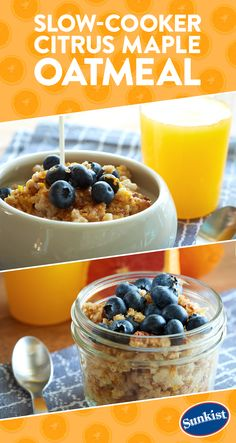 Make your breakfast a breeze and wake up to slow-cooked steel-cut oats sweetened with juicy Cara Cara Navel orange juice and maple syrup. Just add your favorite toppings in the morning for a nourishing start your day.