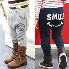 New Style Boys Casual Smile Pattern Pants for Girls Spring Autumn Trousers,High Quality pants stock,China pants female Suppliers, Cheap pants mannequin from Kids Fashion Clothing - Worldwide Wholesale  on Aliexpress.com Trouser Suits, Trousers, Cheap Pants, Kids Pants, Pants Pattern, Boys, Girls, Kids Outfits, Kids Fashion