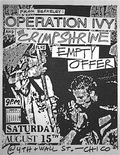 Operation Ivy, Crimpshrine punk hardcore flyer