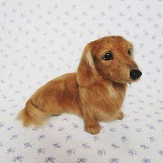 Cute Needle felted wool animal animals dog(Via @little_angel__dog)
