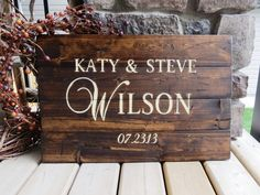 Your Family Name Customized Wood Sign by 3LittleDragonflies