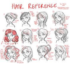 Hair tutorial (reference only) by LightJames on deviantART