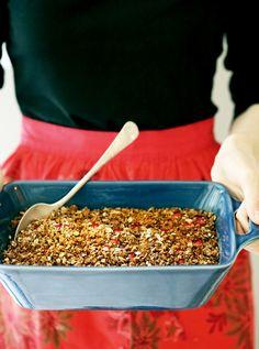 Cranberry Crunch Baked Oatmeal | YummyBeet.com #glutenfree #holidays #thanksgiving #brunch #christmas #breakfast #oatmeal #fall