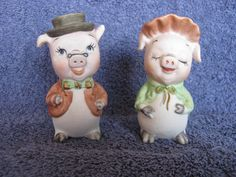 Vintage Lefton Pig Salt & Pepper Shakers