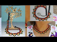 Beading Tutorials, Diy Videos, Seed Beads, Crochet Necklace, Stitch, Jewelry, Shakira, Youtube, Diy Kid Jewelry