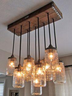 Using mason jars for lighting