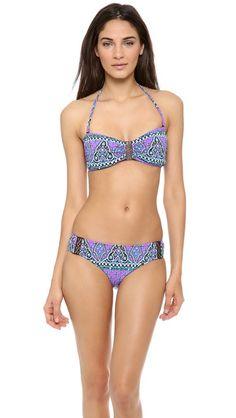9d83e8d1c3 Nanette Lepore Moroccan Medallion Bikini Top Underwire Bikini Top, Bandeau  Bikini, Swimsuit Edition,