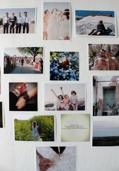 A nice photo wall with Superprints by Tant Johanna