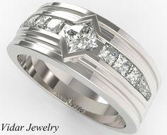 Rose Wedding Rings, Engagement Wedding Ring Sets, Wedding Rings Vintage, Wedding Ring Bands, Solitaire Engagement, Mens Diamond Wedding Bands, Unique Wedding Bands, Wedding Men, Wedding Ideas