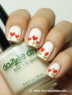 flowers, spring nails