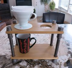 Industrial Pour Over Coffee Stand