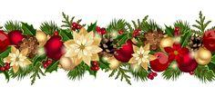 Christmas decorative seamless borders vectors 05