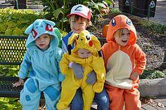 DIY Pokemon costumes for kids! Ash Ketchum, Charmander, Bulbasaur, Pikachu.