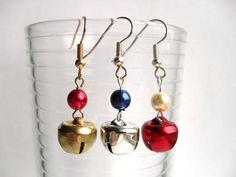Jingle bell earrings by YellowSherbet on Etsy, £3.50