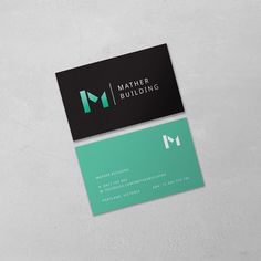 New Identity for upcoming Portland builders Mather Building  #matherbuilding #businesscards #greenandblack #identitydesign #graphicdesign #minimalistbusinesscards #builder #m #portlandoz by studio_mila